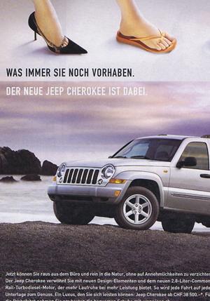 ... was immer Sie vorhaben, der Jeep ...