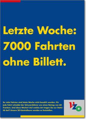 VZO - Radiospots, Inserate und Plakate