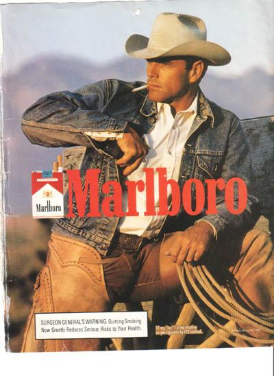 Marlboro-Man, glatt rasiert.