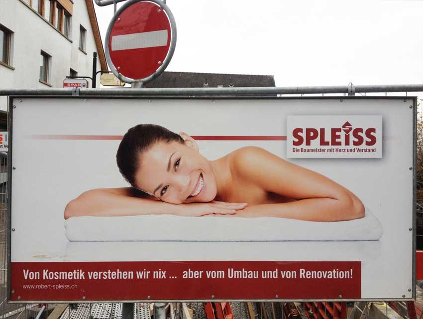 Werbung für Spleiss Baumeister