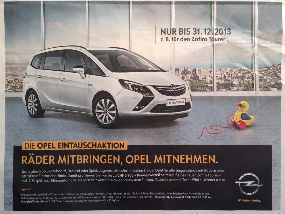 Eintauschaktion von Opel