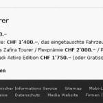 Der Opel Zafira Tourer als Dauerwurstware