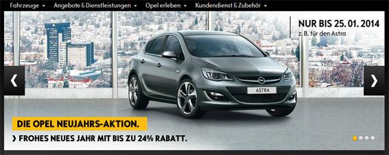 Opel: Rabatt auch im Januar