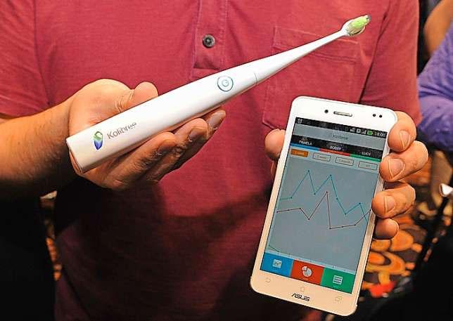 Zahnbürsten-Aktivitäten mit dem Handy aufzeichnen.